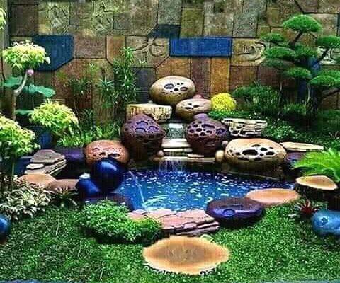 Dekorasi Batu Air Mancur